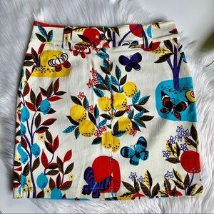 St. John | Fruit and Butterfly Jean Mini Skirt 4